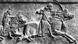 The Assyrian army was known for their usage of advanced iron weaponry which included the bow and arrow. | Courtesy of realmofhistory.com