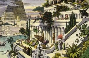 Hanging Gardens of Babylon. Courtesy of Martin Heemskerck. published by Ancient History Encyclopedia.
