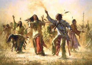 Ghost Dance performed by Sioux for regeneration of Earth| Courtesy of Native Americans Online