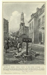 Burning of Zenger's newspaper | New York | Courtesy of The New York Digital Collections