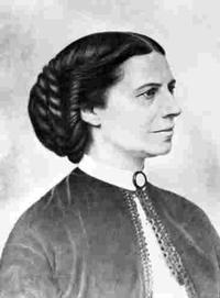 American Red Cross founder Clara Barton, from a portrait taken during the Civil War | Courtesy of Library of Congress