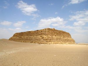 Mastabas were commonly used to bury kings and queens proior to the use of pyramids. | courtesy of egyptarchive.co.uk