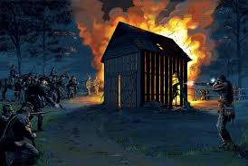 Burning of the Garrett Farm by Union Troops | Courtesy of washingtonian.com