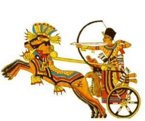 The Hyksos modified warfare by riding horses and using bows | Courtesy of Pinterest |