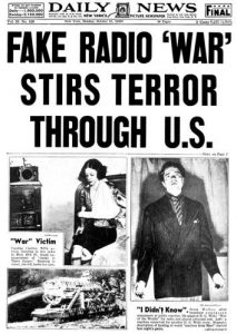 News headline of victims following the live radio broadcast of The War of the Worlds | Courtesy of slate.com