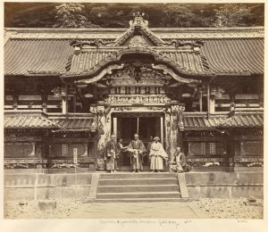 """Carved and painted Gateway at Nikko"" Felice Beato Nikko, Japan 1863-1868"