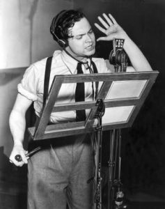 Actor and Producer Orson Welles during a live broadcast in 1938 | Courtesy of history1900s.about.com