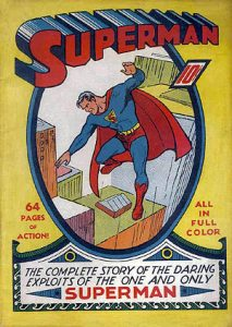 Cover of Superman Issue 1 | Summer 1939 | Art by Joe Shuster | Courtsey of Wikimedia Commons