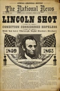 Lincoln Assassination Headline | The National News | April 14, 1865 | Courtesy of CBS News
