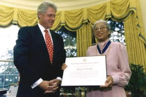 Fig. 1 Rosa Parks and Bill Clinton Courtesy of Wikimedia Commons