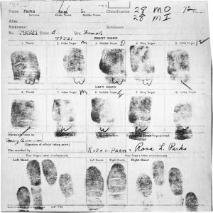 Fig. 4 Rosa Parks Fingerprints - Courtesy of Wikipedia