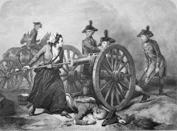 """Molly Pitcher at the Battle of Monmouth, 28 June 1778 (Litho)"". 2014. In Bridgeman Images, edited by Bridgeman Images. London: Bridgeman. http://blume.stmarytx.edu:2048/login?qurl=http%3A%2F%2Fsearch.credoreference.com%2Fcontent%2Fentry%2Fbridgemannew%2Fmolly_pitcher_at_the_battle_of_monmouth_28_june_1778_litho%2F0"