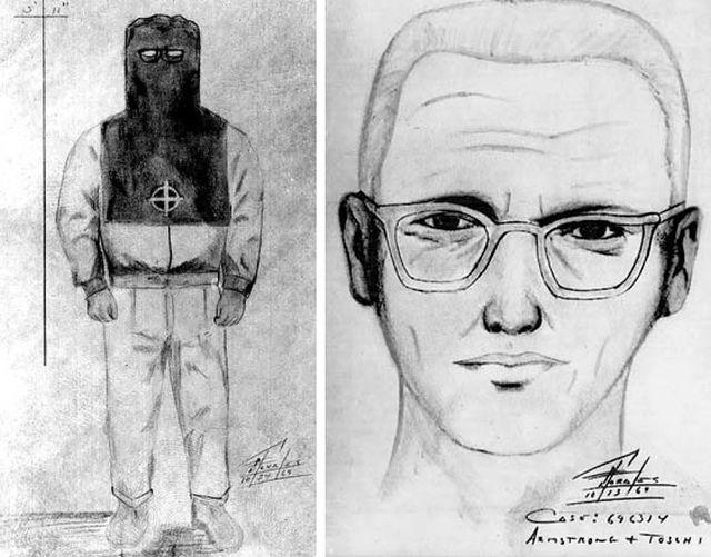 Sketch Produced Of The Zodiac Killer By Bill Armstrong And Dave Toschi Courtesy Of Urban Ghosts