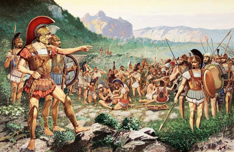 لئونیداس دستور داد که نیروها عقب نشینی کنند و برای مبارزه در یک روز دیگر آماده شوند.