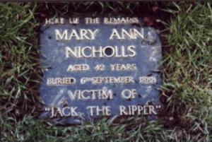 Mary Ann Nicols Grave | Courtesy of funerabilia.pl