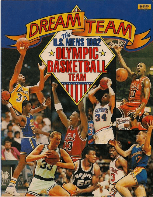 b6786a0c793e Dream Team Promotional Magazine from 1992 that featured players on the Dream  Team such as (from Left to Right) Magic Johnson