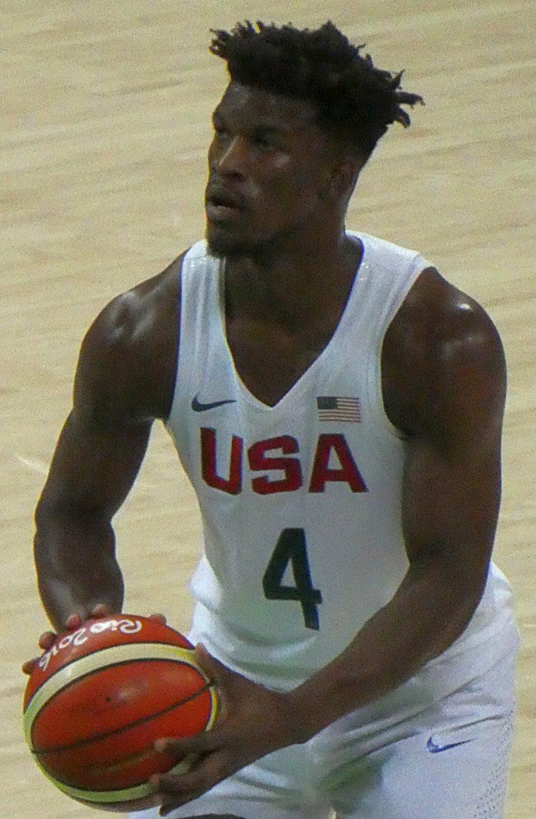 f7071e17e32f7e Jimmy Butler shooting a free throw for the US basketball team