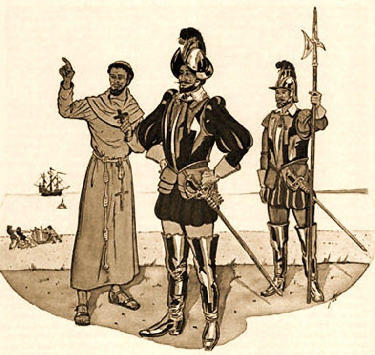 Sketch of Hernando de Alarcon, Courtesy of