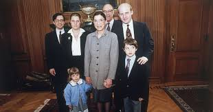 Picture of Bader Ginsburg and her family.