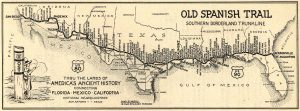 A Map of the Old Spanish Trail donated to the San Antonio Public Library in 1931 | Photograph Courtesy of OST100 (http://www.oldspanishtrailcentennial.com/gallery.html)