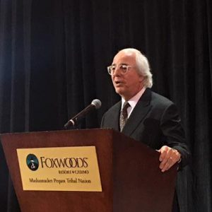 Frank Abagnale now gives oral presentations as part of the FBI. |Courtesy of CRN 2017.